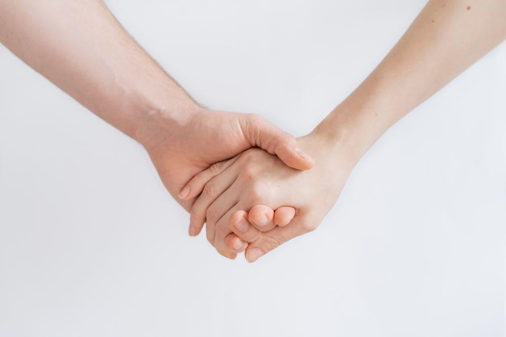 Bitte deinen Partner um Unterstützung