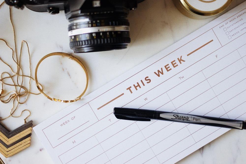 Struktur Planen Wochenplan Ziel Erreichen Beratung Psychologisch Online Hilfe Therapie Fernbeziehung